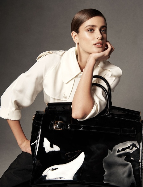 Taylor Hill Poses With Ralph Lauren's New It Bag